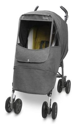 Универсальный дождевик  на коляску Manito Melange Alpha, цвет серо-чёрный