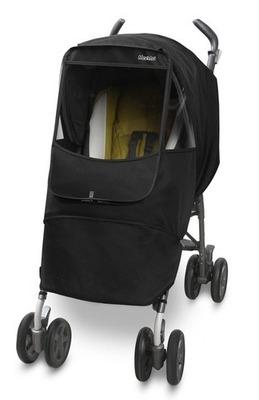 Универсальный дождевик  на коляску Manito Melange Alpha, цвет чёрный