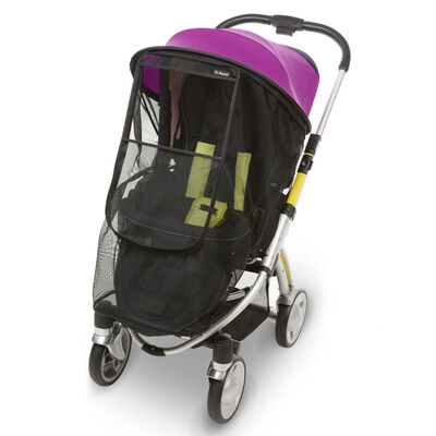 Козырёк от солнца на коляску с москитной сеткой Manito Magic, цвет фиолетовый