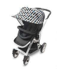 Козырёк от солнца Manito Scandi, для коляски и автокресла, Diamond Blue (голубые ромбики)