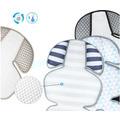 Дышащий матрасик в коляску и автокресло Manito Clean Comfort, зигзаг (серый)