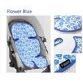 Дышащий матрасик в коляску и автокресло Manito Clean Comfort, голубые цветы