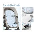 Дышащий матрасик в коляску и автокресло Manito Clean Comfort, треугольники (с голубым)