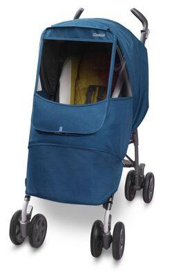 Универсальный дождевик  на коляску Manito Melange Alpha, цвет голубой