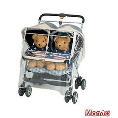 Универсальный силиконовый дождевик Manito Imperial Twin, для двойной коляски