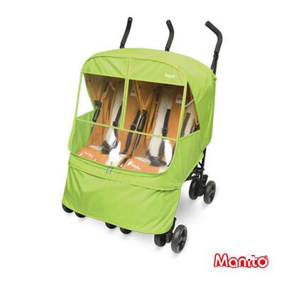 Дождевик для двойной коляски Manito Elegance Alpha Twin, цвет салатовый