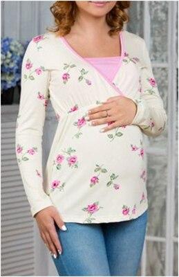 Туника для беременных и кормления, розы