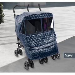Утеплённый чехол для двойной коляски Manito Castle Alpha Twin, цвет тёмно-синий