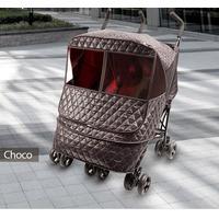 Утеплённый чехол для двойной коляски Manito Castle Alpha Twin, цвет шоколадный